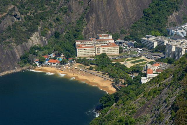 vista aerea de playa vermelha Rio de Janeiro