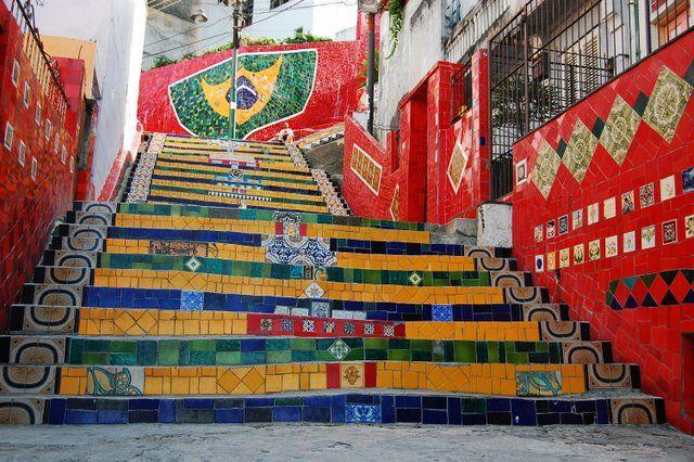 Escalera de Selarón Monumentos de Rio de Janeiro