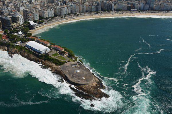 Vista áerea del Fuerte de Copacabana Rio de Janeiro
