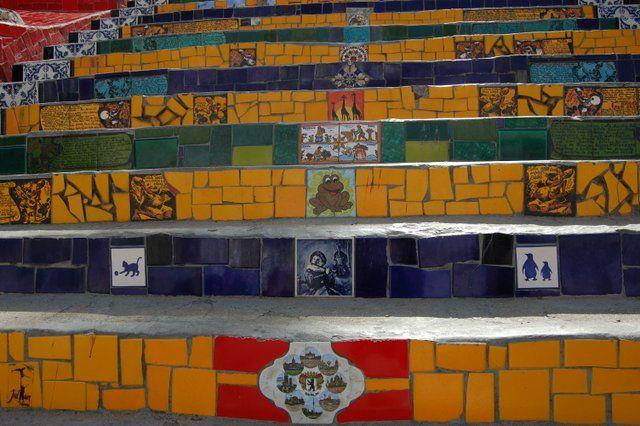 Azulejos en escalera de Selaron Rio de Janeiro