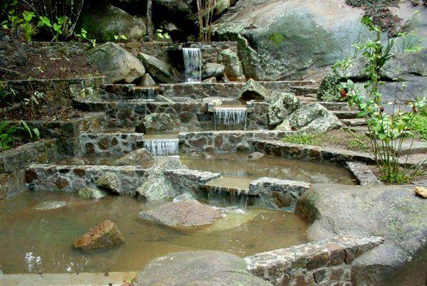 caidad de agua en el Área de los lagos Sitio Burle Marx Rio de Janeiro