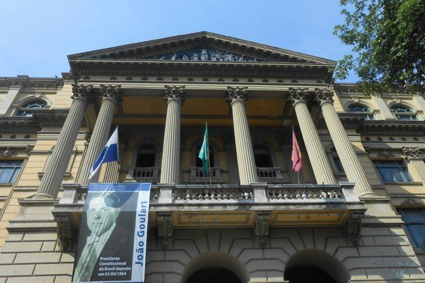 Fachada principal de la Biblioteca Nacional Rio de Janeiro