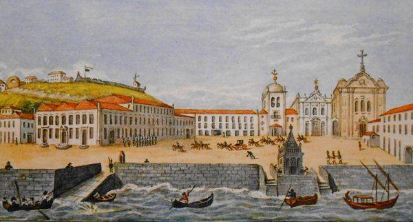 Vista del Palacio Imperial en 1808 Rio de Janeiro