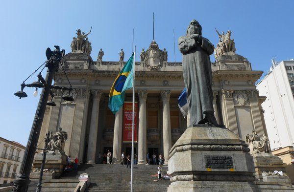Monumento a Tiradentes Palacio Tiradentes Rio de Janeiro