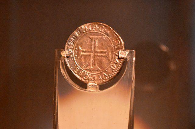 "Moneda de plata ""O Indo"" Museo Historico Nacional Rio de Janeiro"