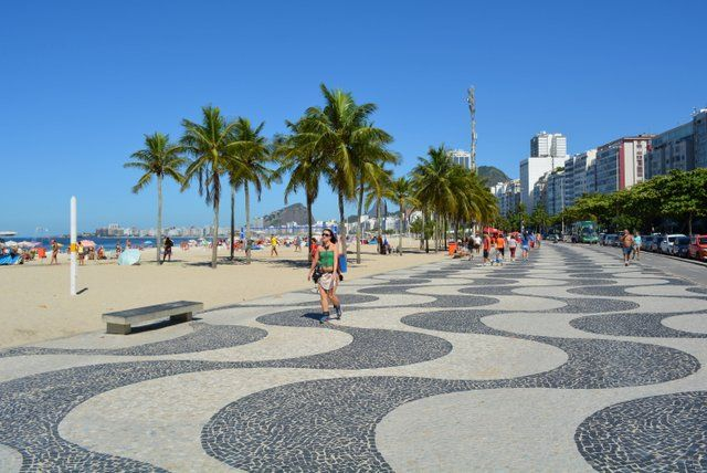Paseo de Playa de Copacabana Rio de Janeiro