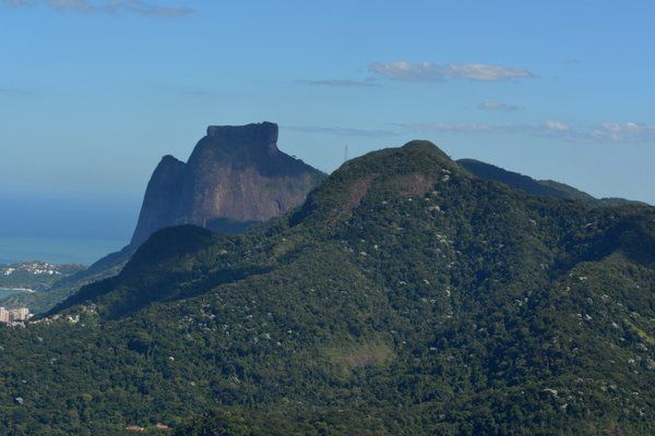 Perfil dónde se observa la cima plana de Pedra da Gávea Floresta da Tijuca Rio de Janeiro