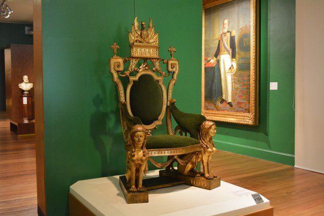 Trono del emperador Pedro II Museo Historico Nacional Rio de Janeiro