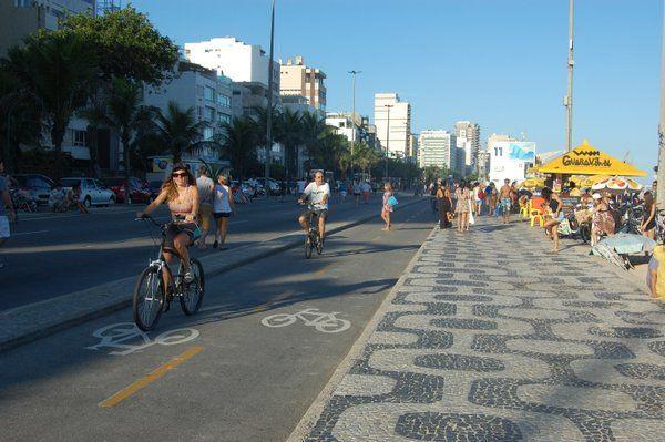 Ciclovía de la playa de Leblon Rio de Janeiro