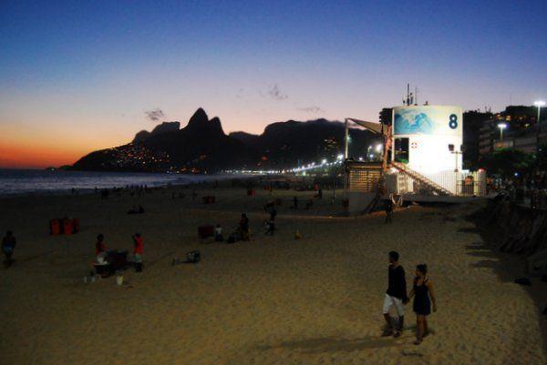 Playa de Ipamena al atardecer Rio de Janeiro
