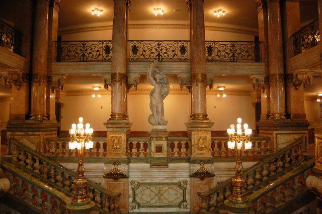 Escalera del vestíbulo principal Teatro Municipal Rio de Janeiro