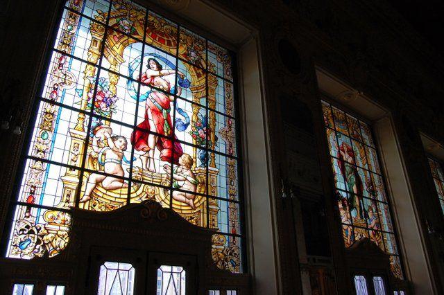 vidrieras de la fachada principal Teatro Municipal Rio de Janeiro