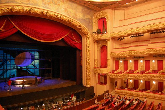 escenario y sala del Teatro Municipal Rio de Janeiro
