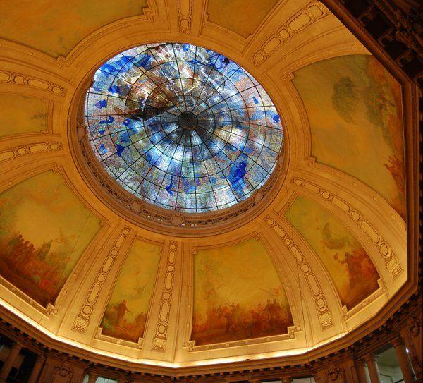 Vidriera de la cúpula central Palacio Tiradentes Rio de Janeiro