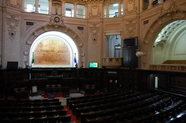 Sala del Pleno Palacio Tiradentes Rio de Janeiro