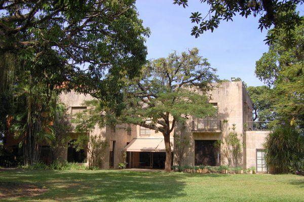 Vista de la casa y los jardines del Museo Chacara do Ceu Rio de Janeiro