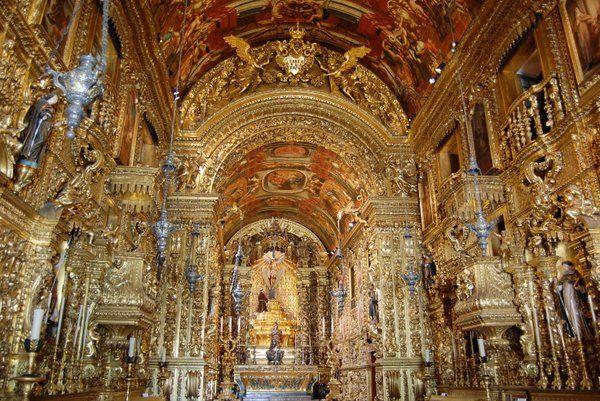 Altar Mayor Iglesia São Francisco da Penitência convento de Santo Antonio Rio de Janeiro