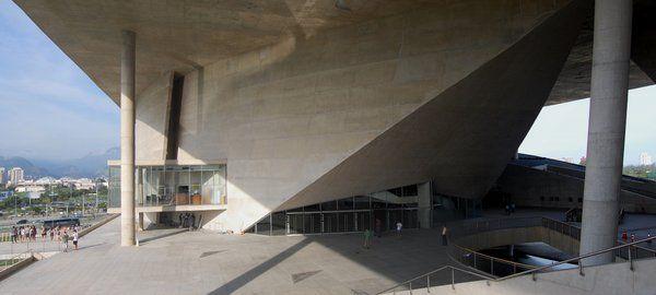 Terraza de acceso Ciudad de las Artes en Barra da Tijuca Rio de Janeiro