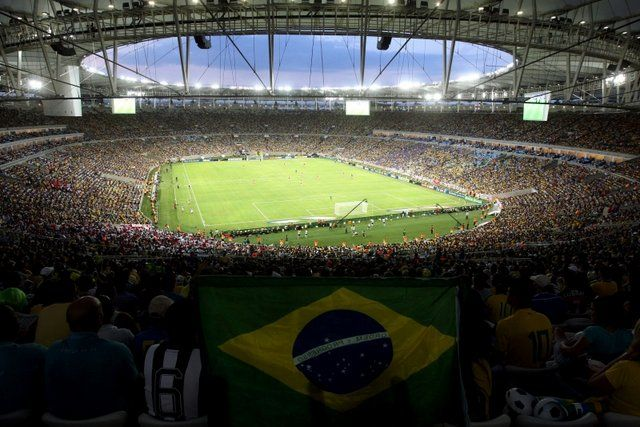 partido de la seleccion brasileña Estadio Maracana Rio de Janeiro