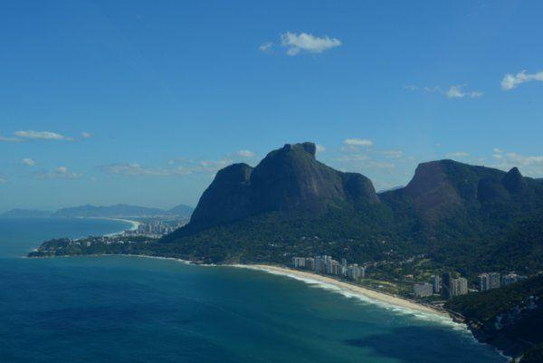 Vista aérea de la playa de Sao Conrado Rio de Janeiro