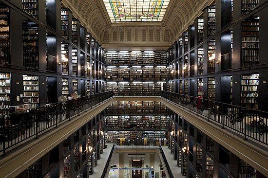 Sala de depósito de la Biblioteca Nacional de Brasil Rio de Janeiro