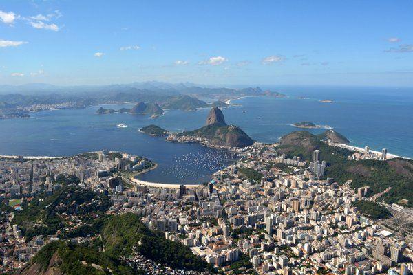 la imagen más típica de Rio de Janeiro vista desde el Corcovado cristo redentor rio de janeiro