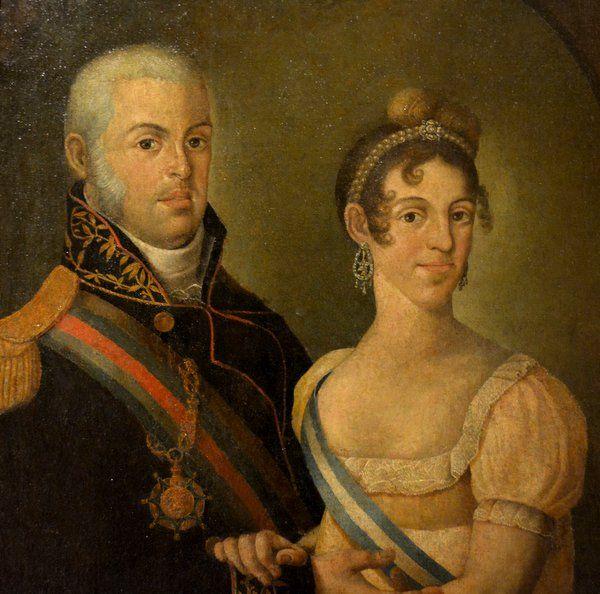 Retrato de Joao VI y Carlota Joaquina de Borbón Historia de Rio de Janeiro