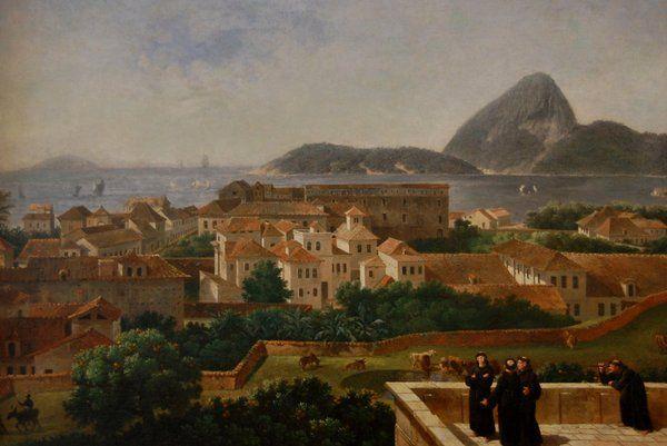 Vista de Río desde el convento de Santo Antonio Historia de Rio de Janeiro