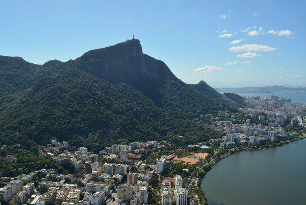 Vista de la ruta de ascensión al Corcovado trekking cristo redentor del corcovado trekking Rio de Janeiro