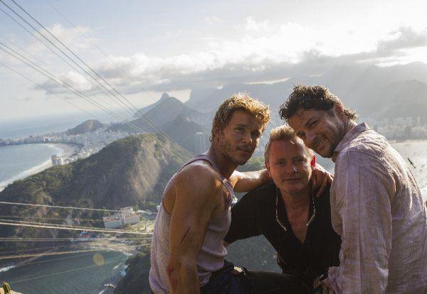 Actores en uno de los emblemáticos escenarios de Rio Eu Te Amo Pan de Azúcar Río de Janeiro