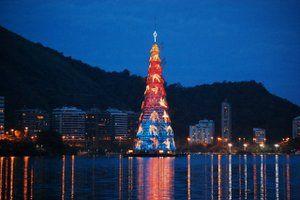Arbol de Navidad flotante Rio de Janeiro