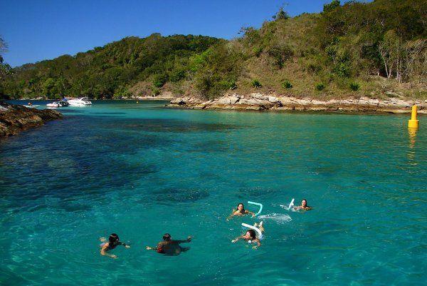 laguna azul algunas de las mejores playas cerca de Rio de Janeiro