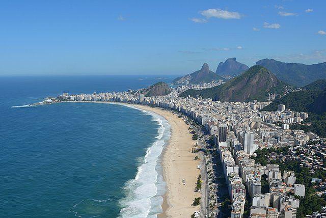 Vista aérea del barrio de Copacabana