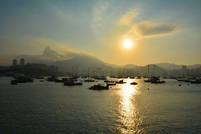 atardecer en el barrio de Urca Rio de Janeiro