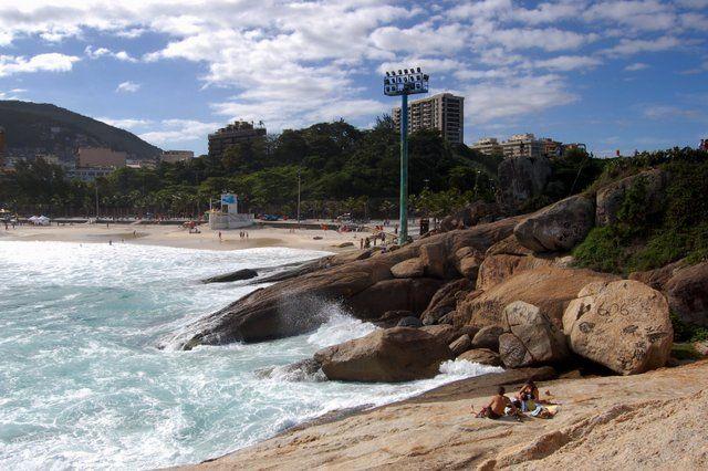 Playa de Ipanema desde la Piedra de Arpoador barrio de Ipanema rio de janeiro