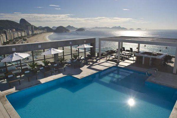Vista desde la terraza de un hotel de Copacabana