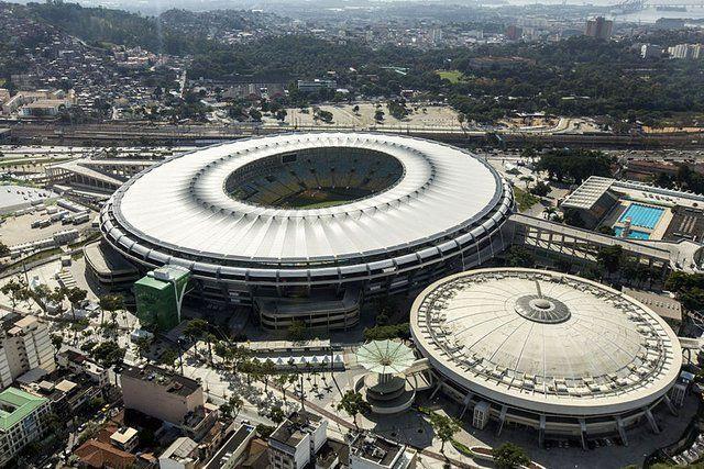 Maracana Rio de Janeiro Vista aérea del complejo deportivo del estadio maracana