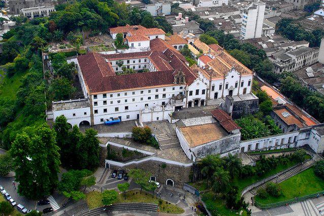Vista aérea del Convento de Santo Antonio Rio de Janeiro