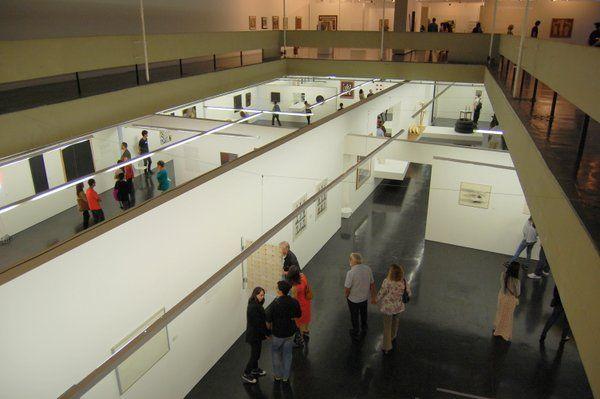 Vista de las salas del museo de arte moderno Rio de Janeiro MAM Rio