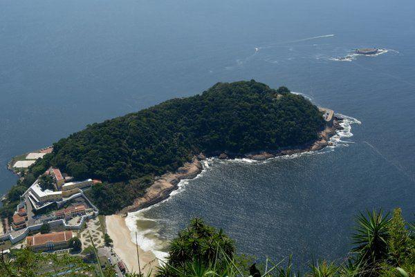 Vista aerea fortaleza de sao joao rio de janeiro