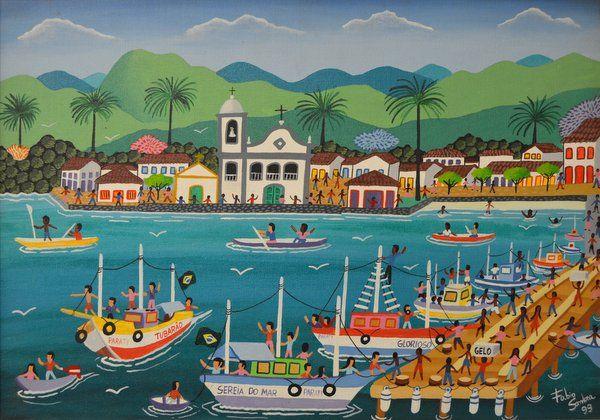 """""""Paraty"""" de Fábio Sombra Museo de Arte Naif Rio de Janeiro"""
