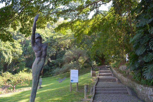 Escalinata de acceso al Parque da Catacumba Rio de Janeiro