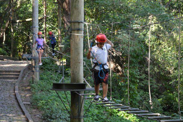 Circuito infantil de arborismo Parque da Catacumba Rio de Janeiro