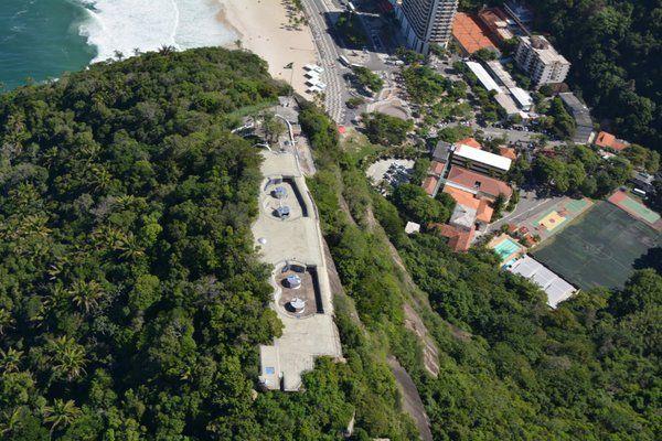 Vista área del Fuerte de Leme Rio de Janeiro fuerte duque de caxias