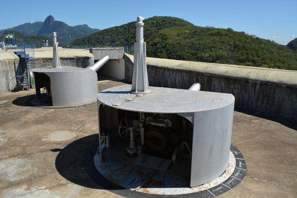 Una de las dos baterías de cañones de 280 mm Fuerte de Leme Rio de Janeiro fuerte duque de caxias