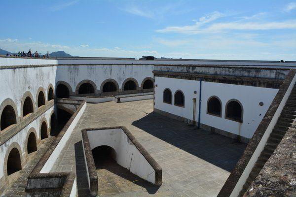 Baterías de cañones Fortaleza de Santa Cruz Niteroi Rio de Janeiro