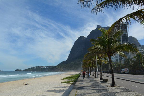 Paseo marítimo de playa Sao Conrado Rio de Janeiro
