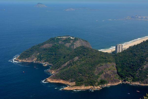 Vista del Fuerte de Leme desde el Pan de Azucar Rio de Janeiro fuerte duque de caxias