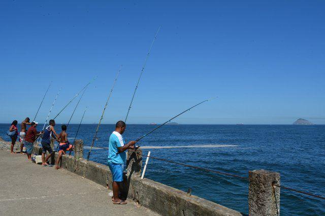 Camino de Pescadores en playa de Leme Rio de Janeiro