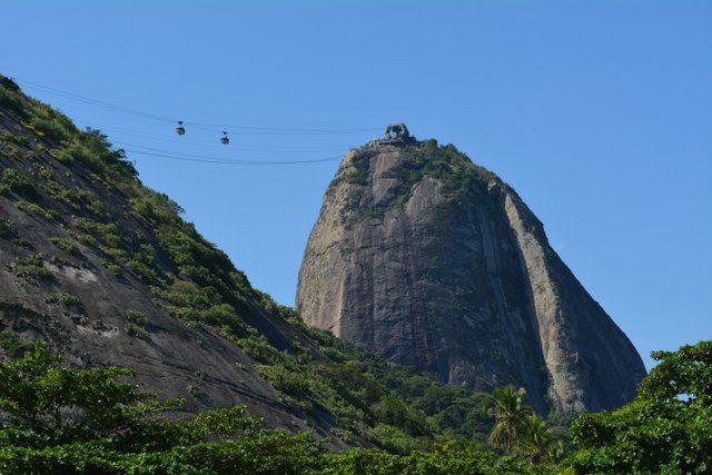 Cruce de cabinas entre Urca y el Pan de Azucar Rio de Janeiro